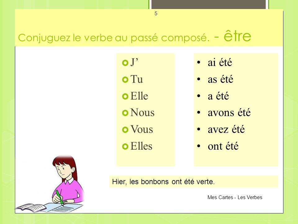 Conjuguez le verbe au passé composé. - être