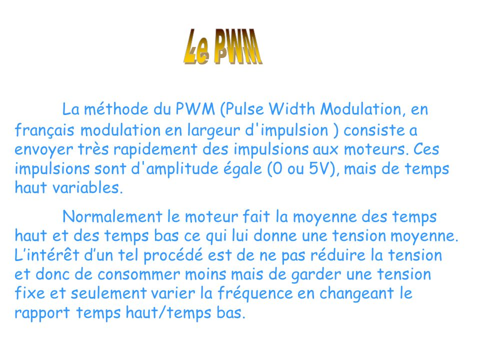 Le PWM