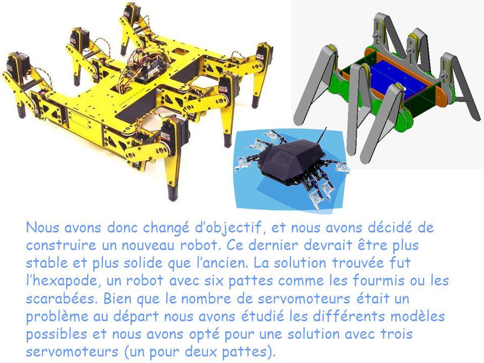 Nous avons donc changé d'objectif, et nous avons décidé de construire un nouveau robot.