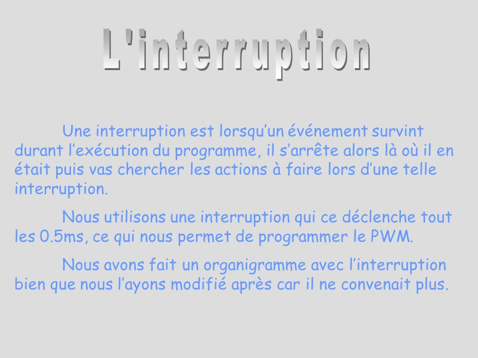 L interruption