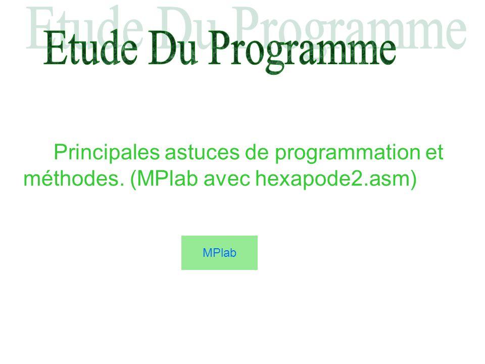 Etude Du Programme Principales astuces de programmation et méthodes.