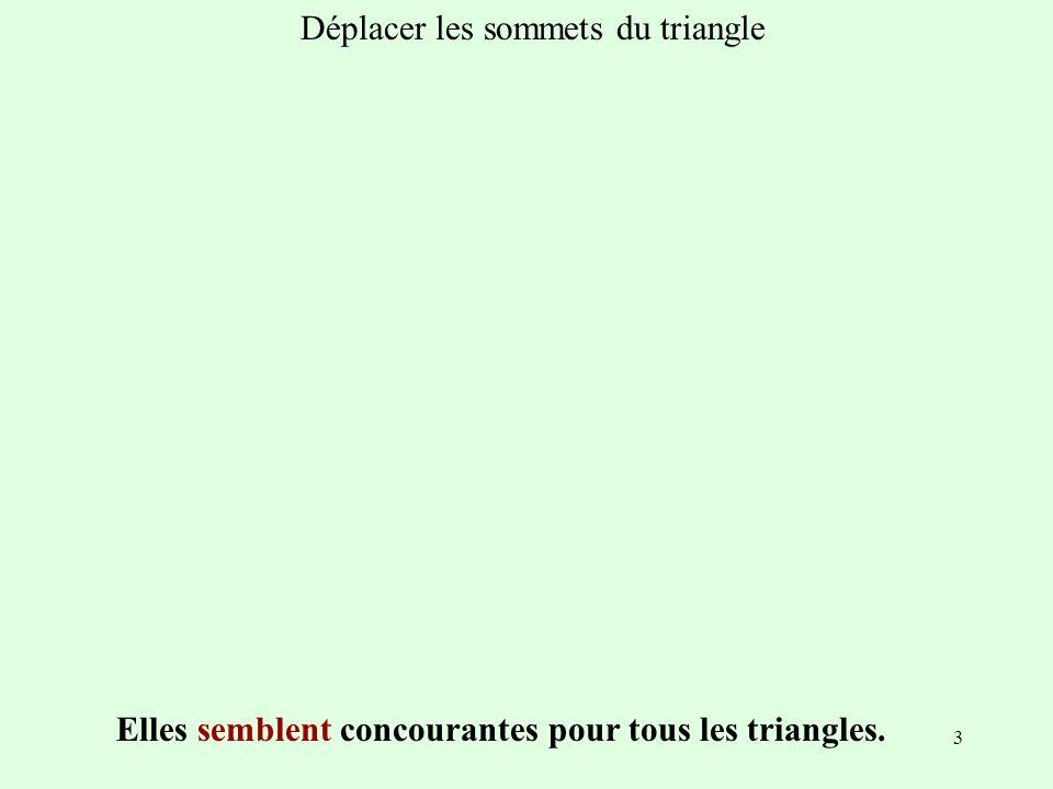 Déplacer les sommets du triangle