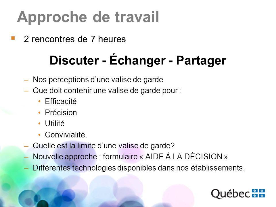 Discuter - Échanger - Partager