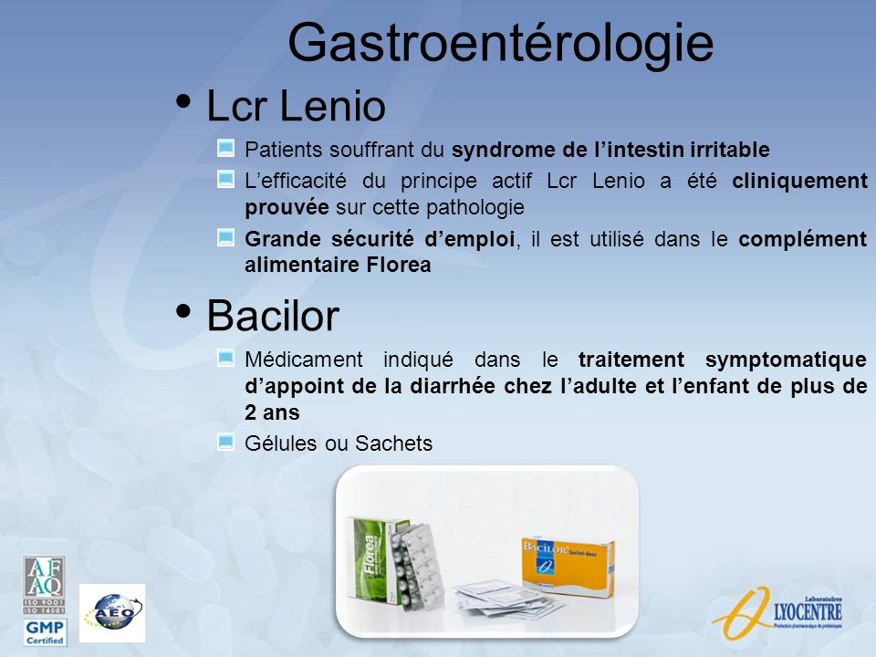 Gastroentérologie Lcr Lenio Bacilor