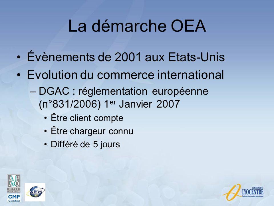 La démarche OEA Évènements de 2001 aux Etats-Unis