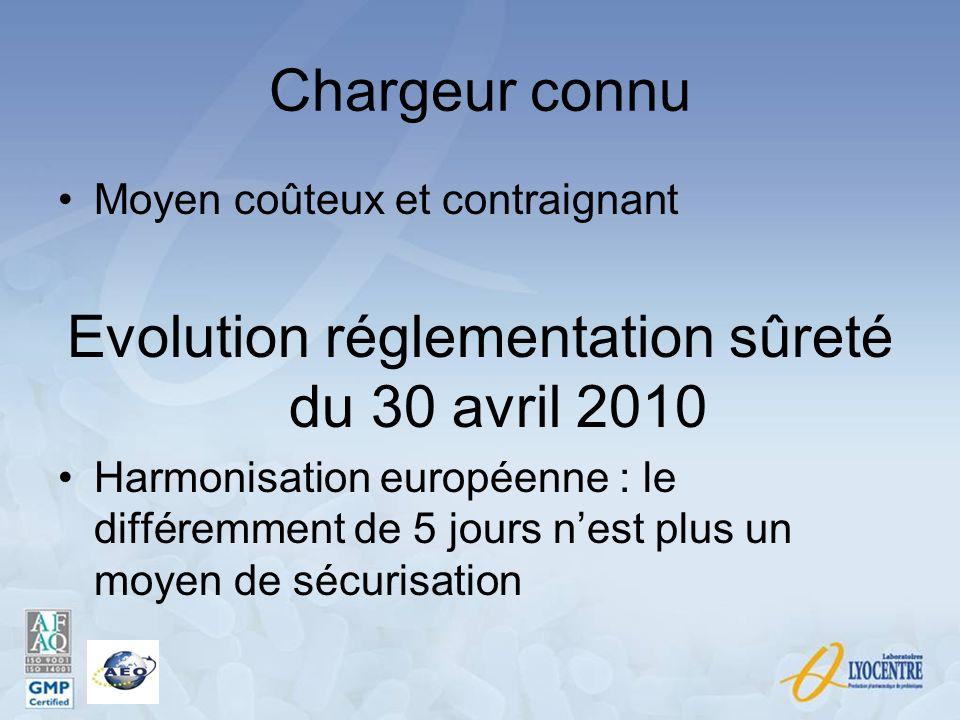Evolution réglementation sûreté du 30 avril 2010