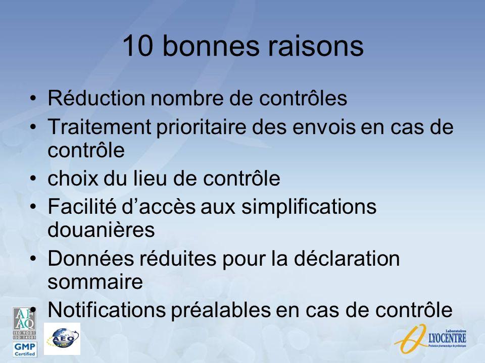 10 bonnes raisons Réduction nombre de contrôles
