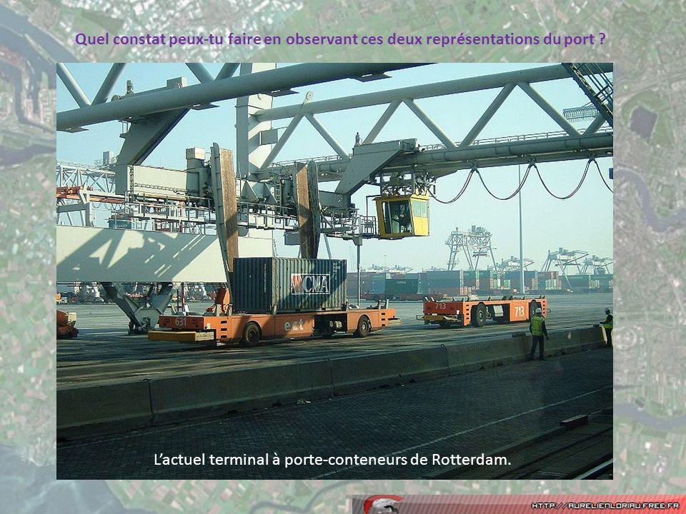 L'actuel terminal à porte-conteneurs de Rotterdam.