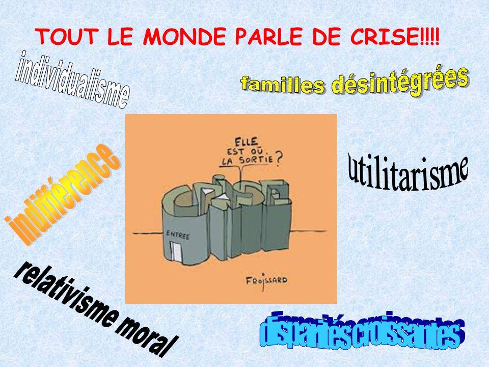 TOUT LE MONDE PARLE DE CRISE!!!!