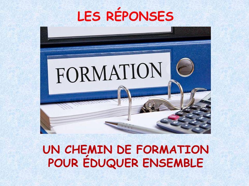 UN CHEMIN DE FORMATION POUR ÉDUQUER ENSEMBLE