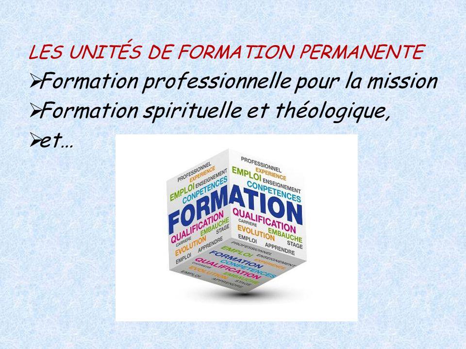 Formation professionnelle pour la mission