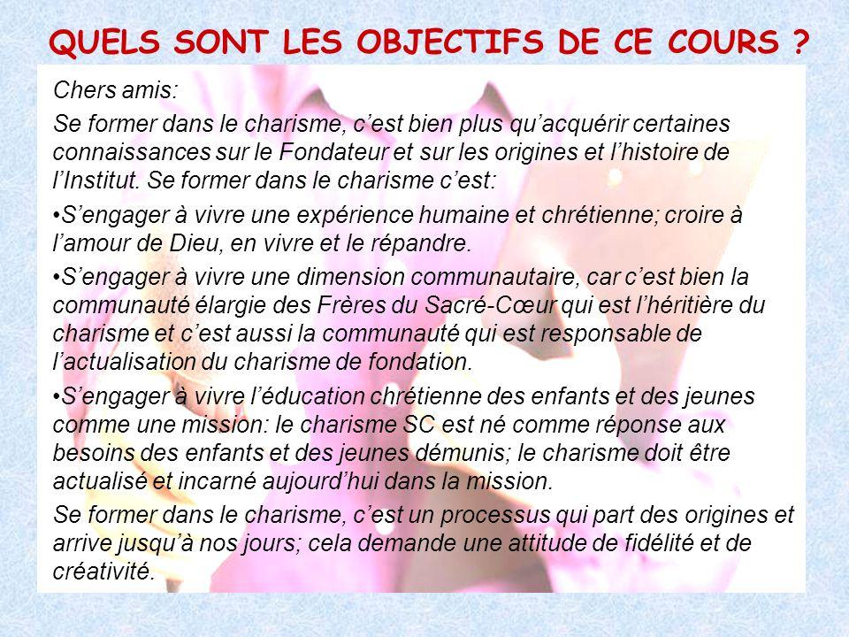 QUELS SONT LES OBJECTIFS DE CE COURS