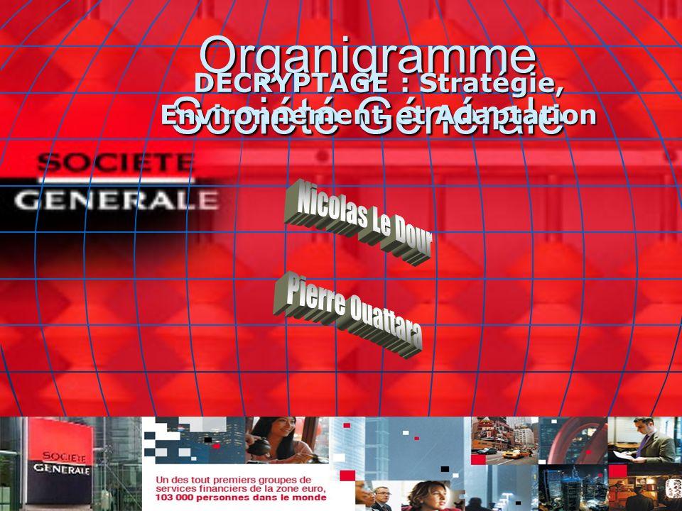 Organigramme Société Générale