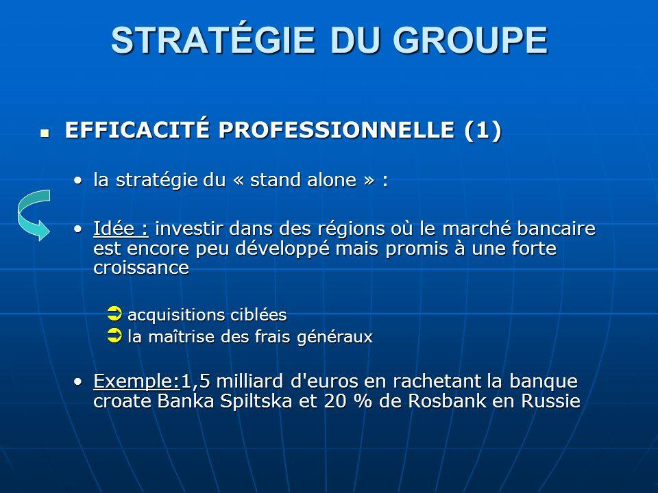 STRATÉGIE DU GROUPE EFFICACITÉ PROFESSIONNELLE (1)