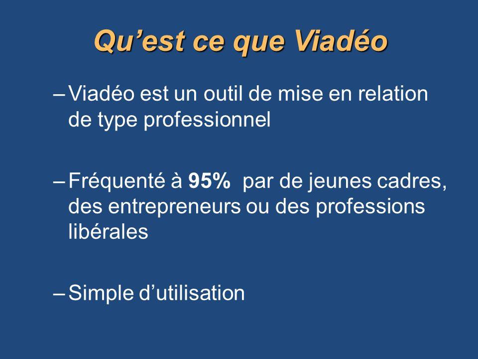 Qu'est ce que Viadéo Viadéo est un outil de mise en relation de type professionnel.