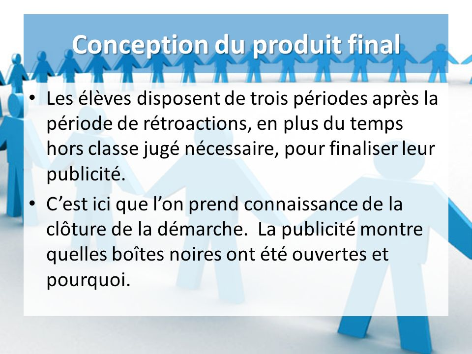Conception du produit final