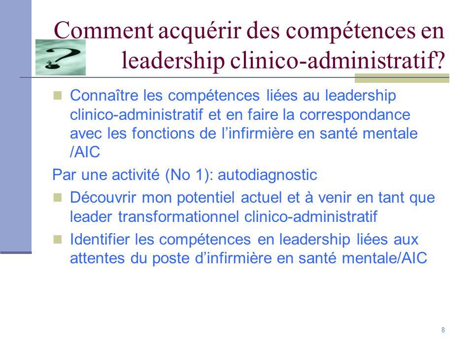 Comment acquérir des compétences en leadership clinico-administratif
