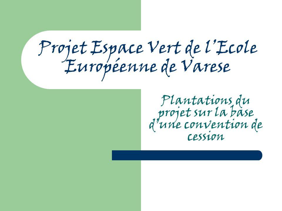 Projet Espace Vert de l'Ecole Européenne de Varese