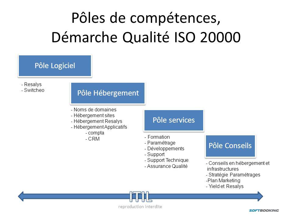Pôles de compétences, Démarche Qualité ISO 20000