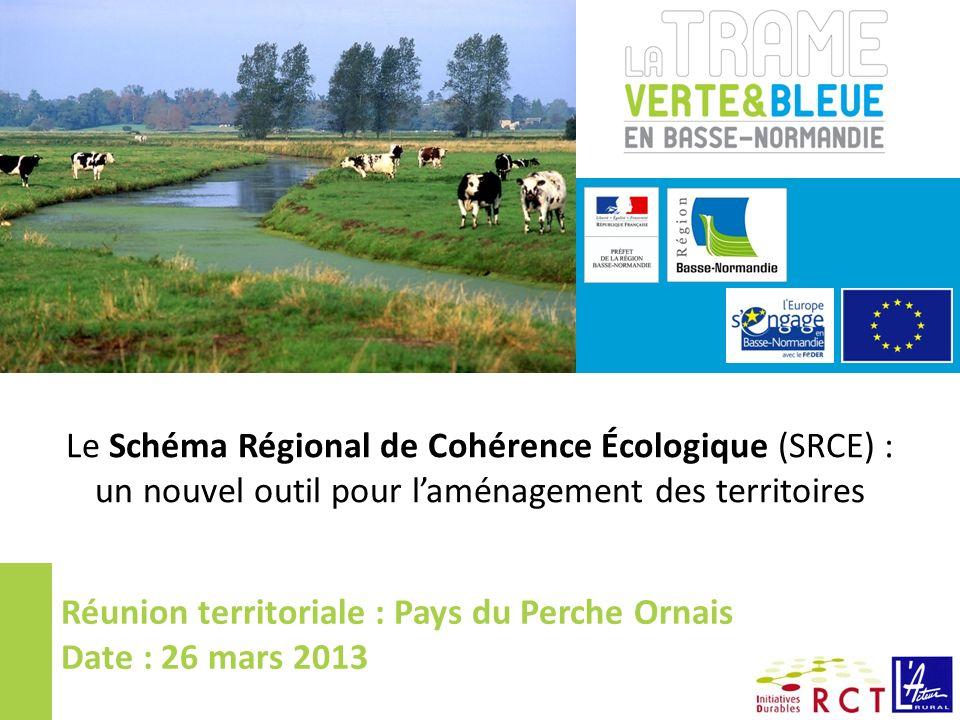 Le Schéma Régional de Cohérence Écologique (SRCE) :
