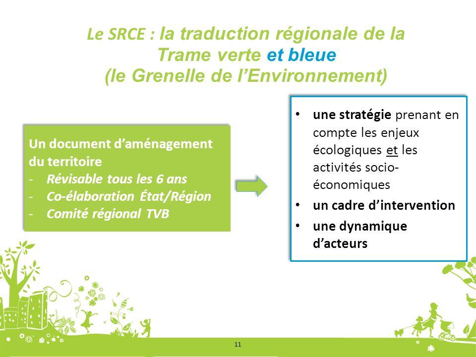 Le SRCE : la traduction régionale de la Trame verte et bleue