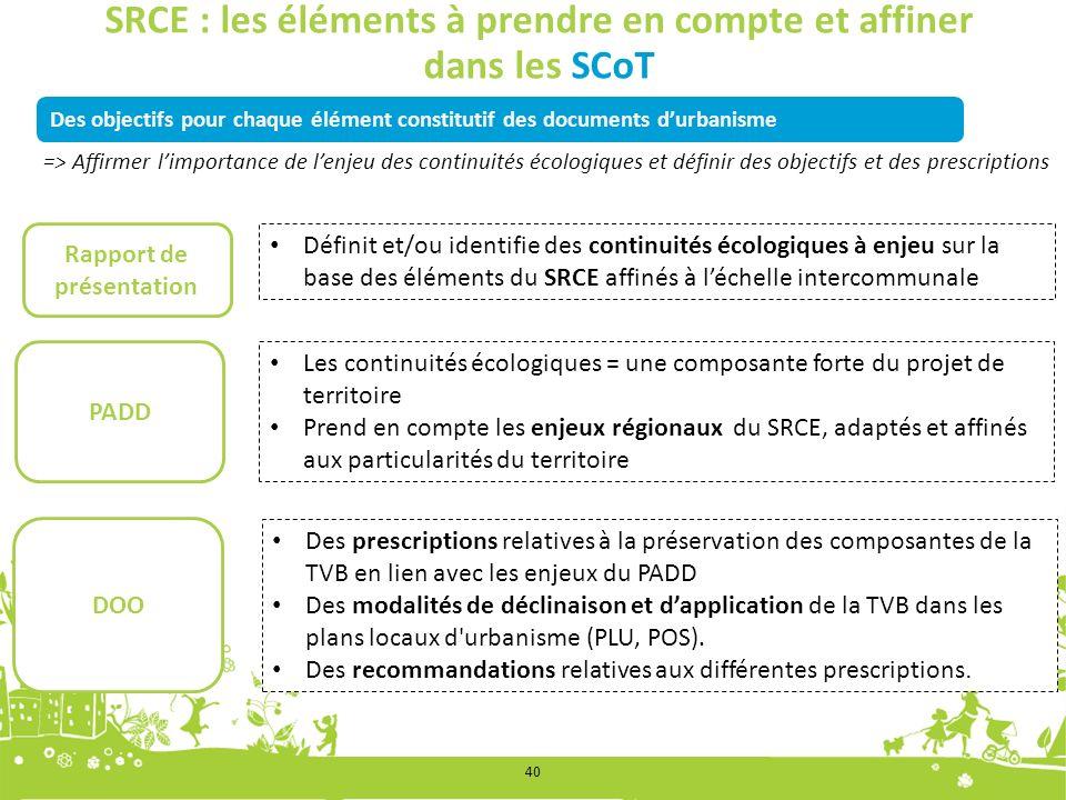 SRCE : les éléments à prendre en compte et affiner dans les SCoT