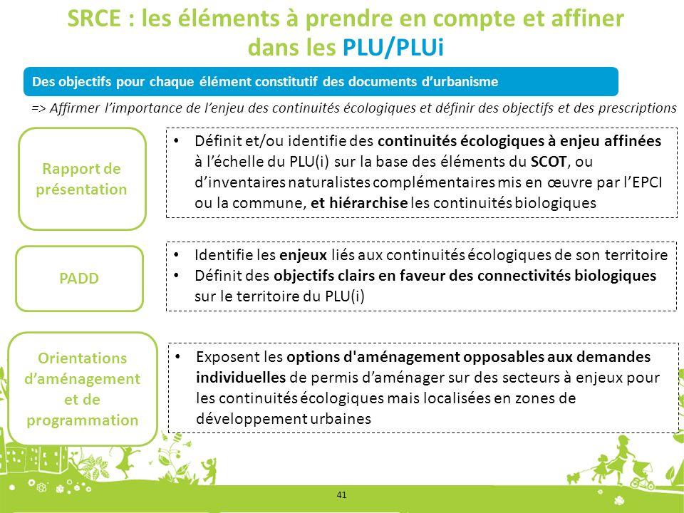 SRCE : les éléments à prendre en compte et affiner dans les PLU/PLUi