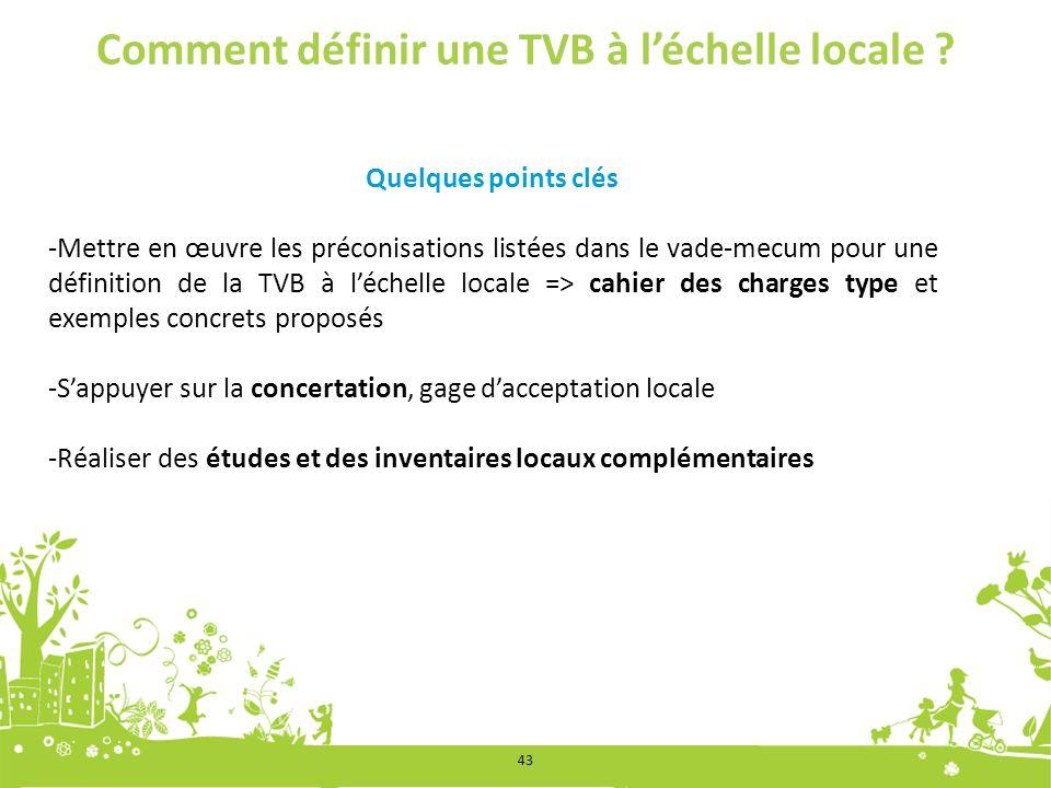Comment définir une TVB à l'échelle locale