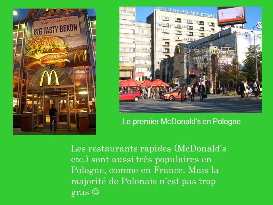 Le premier McDonald's en Pologne