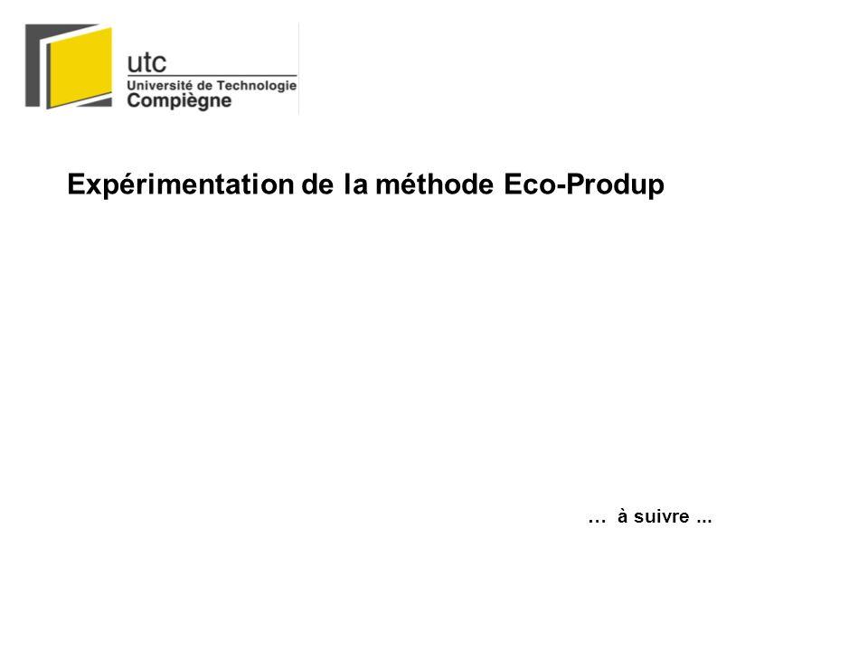 Expérimentation de la méthode Eco-Produp