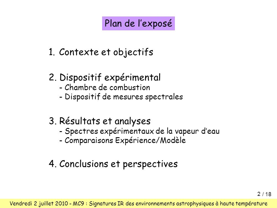 2. Dispositif expérimental