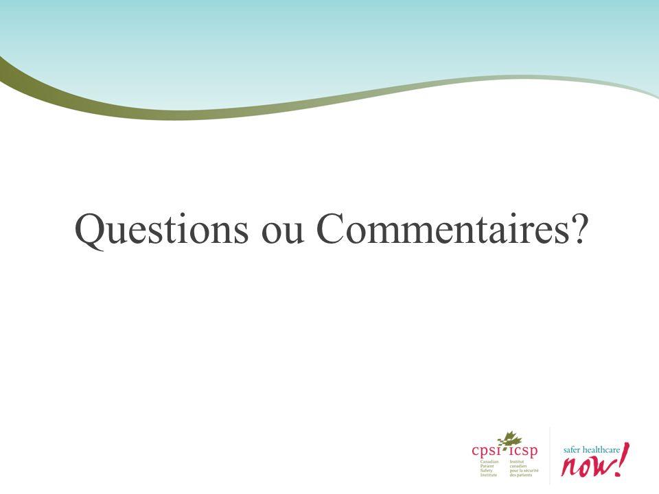 Questions ou Commentaires