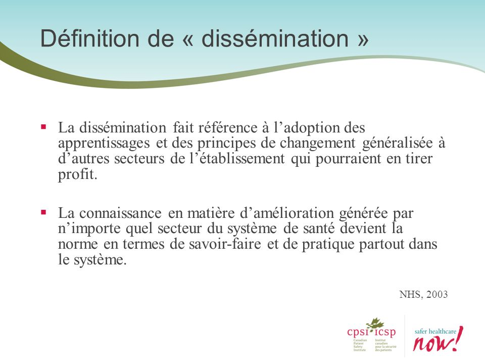 Définition de « dissémination »