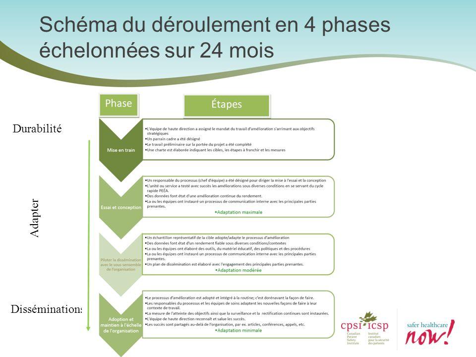 Schéma du déroulement en 4 phases échelonnées sur 24 mois