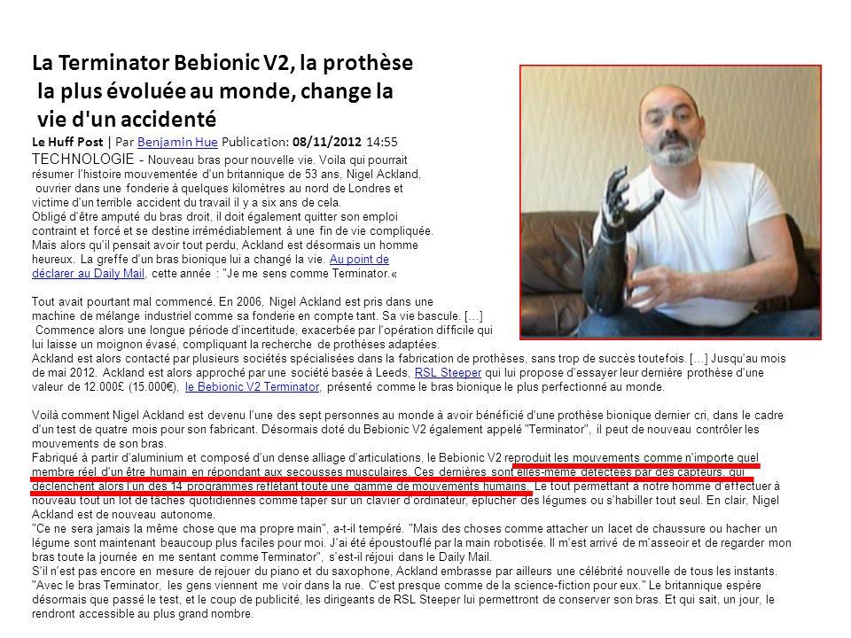 La Terminator Bebionic V2, la prothèse