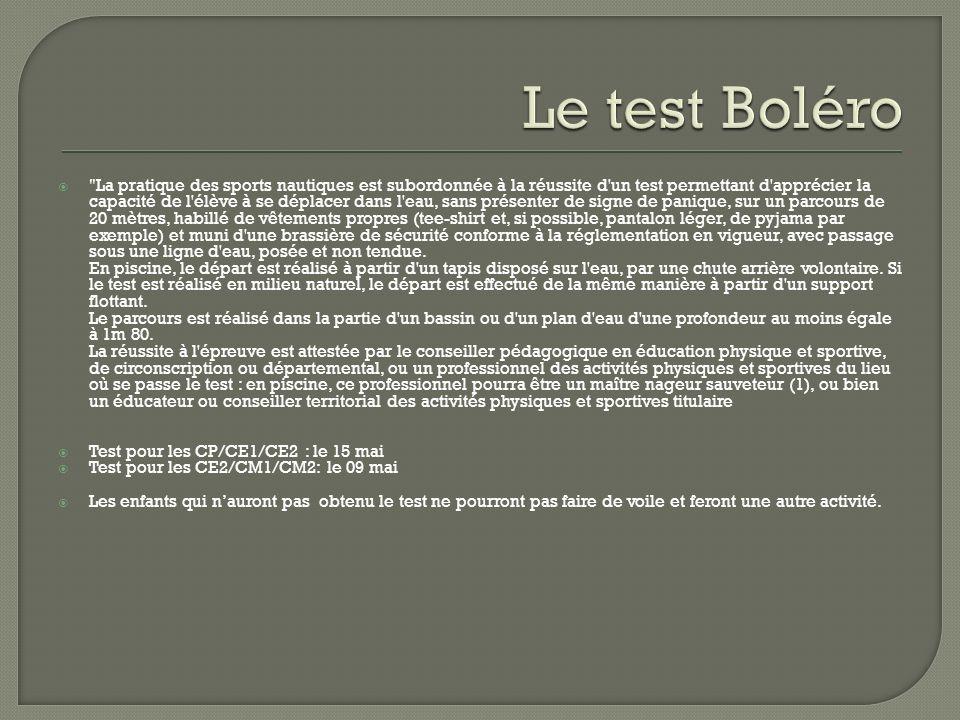 Le test Boléro