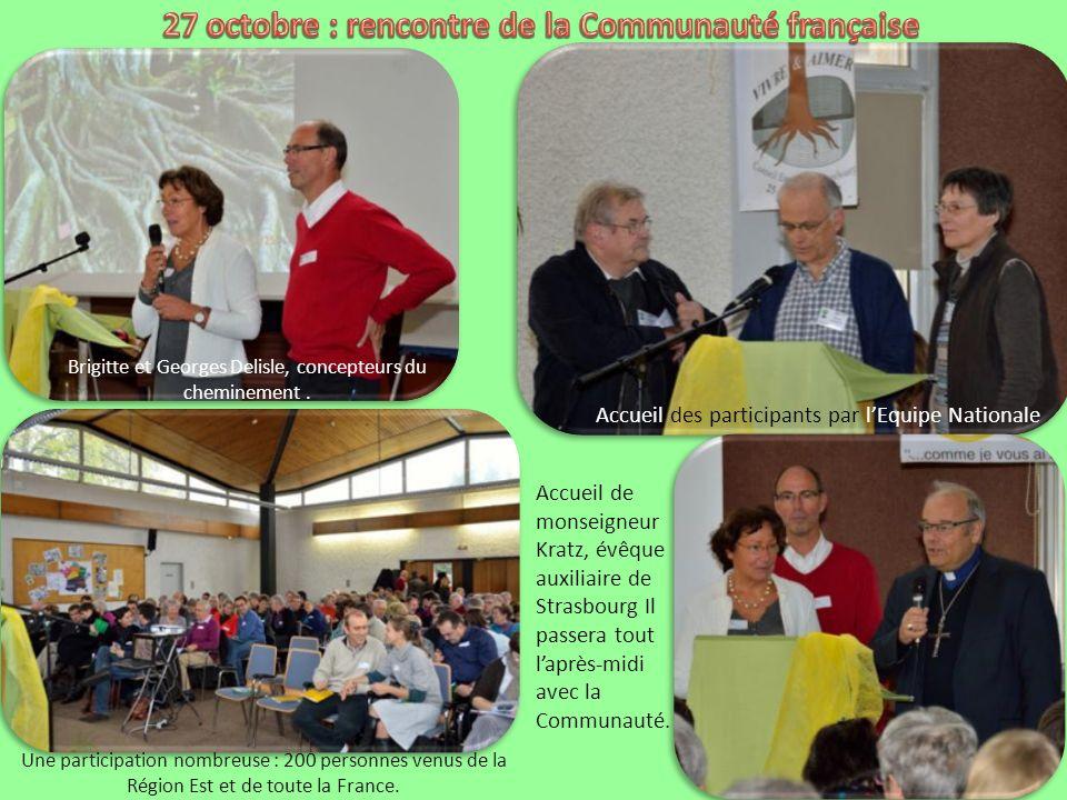 27 octobre : rencontre de la Communauté française