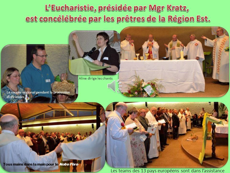 L'Eucharistie, présidée par Mgr Kratz,