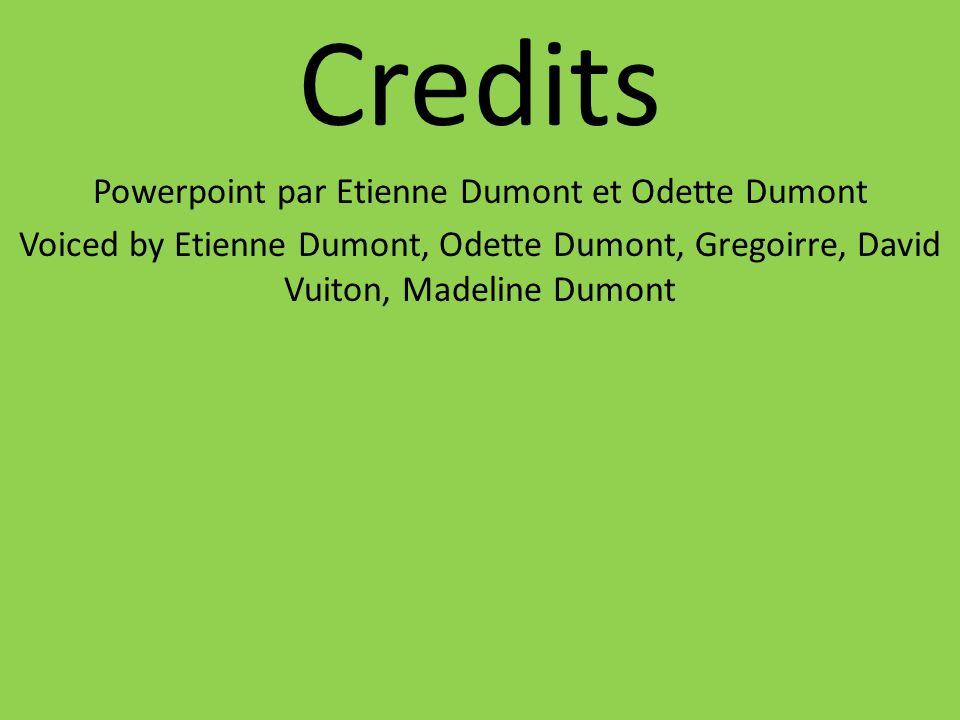 Powerpoint par Etienne Dumont et Odette Dumont