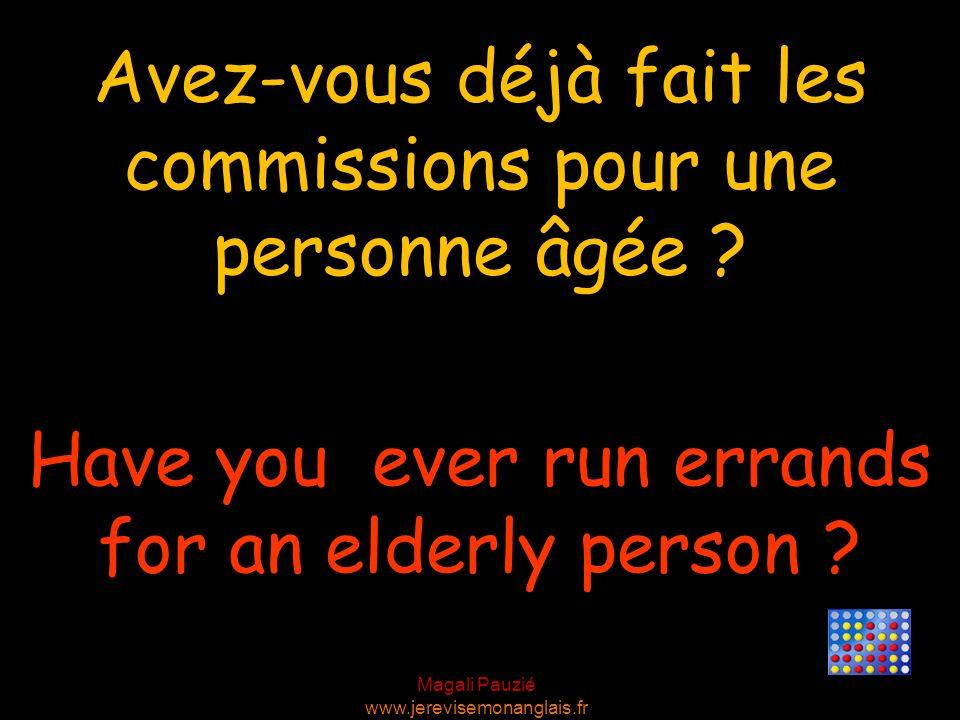 Avez-vous déjà fait les commissions pour une personne âgée