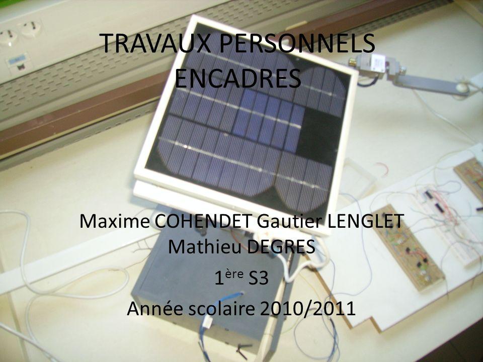 TRAVAUX PERSONNELS ENCADRES