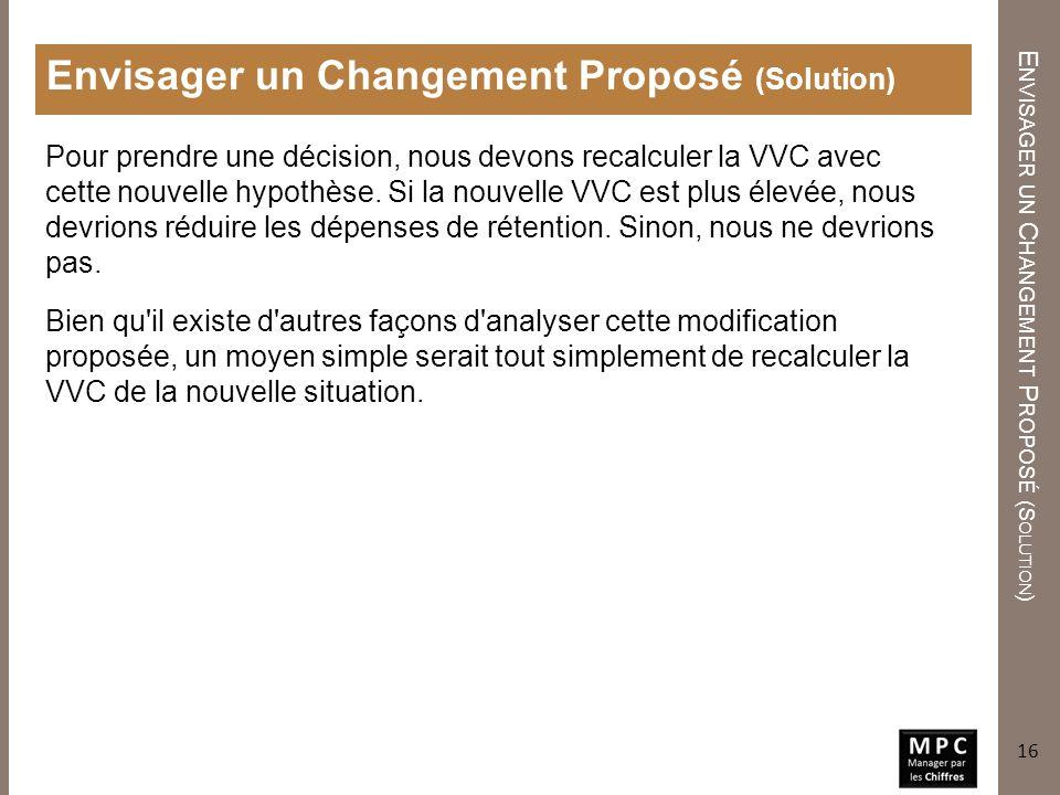 Envisager un Changement Proposé (Solution)