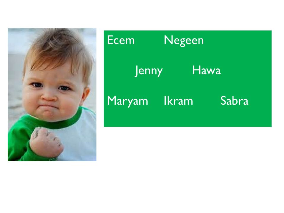 Ecem Negeen Jenny Hawa Maryam Ikram Sabra