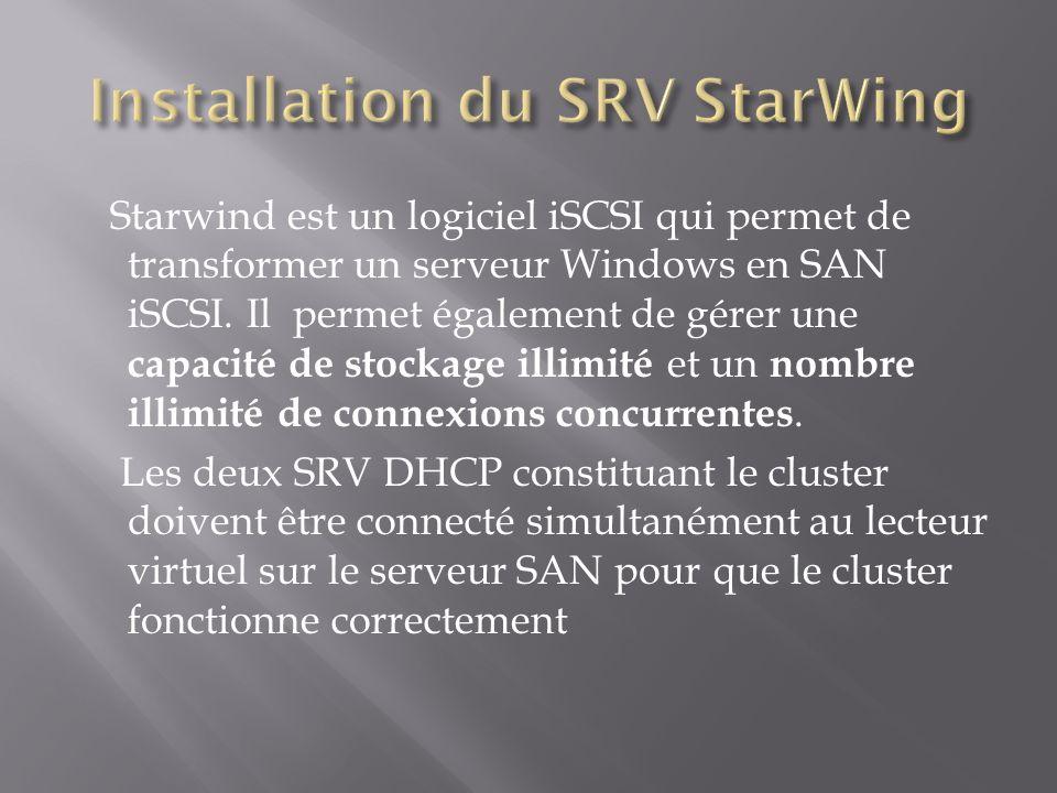 Installation du SRV StarWing