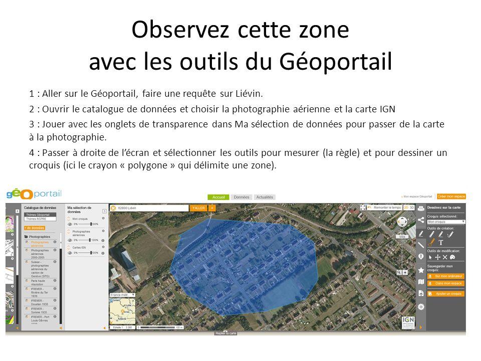 Observez cette zone avec les outils du Géoportail