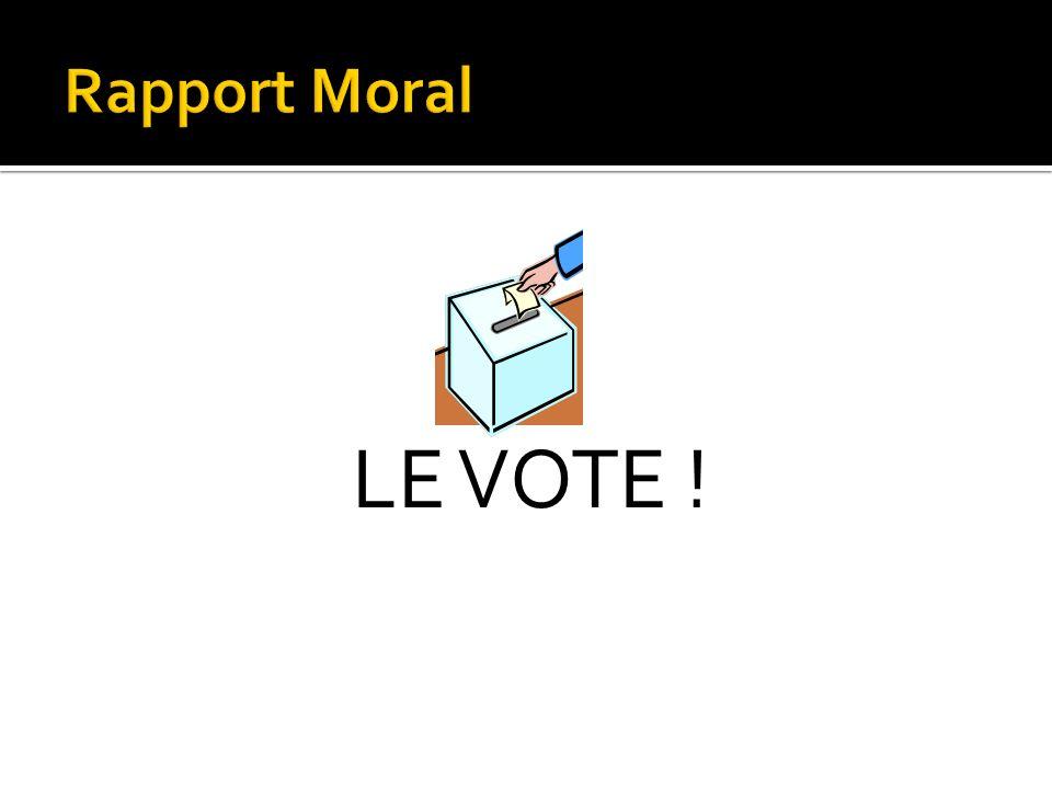 Rapport Moral LE VOTE !