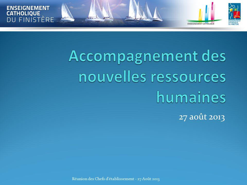 Accompagnement des nouvelles ressources humaines
