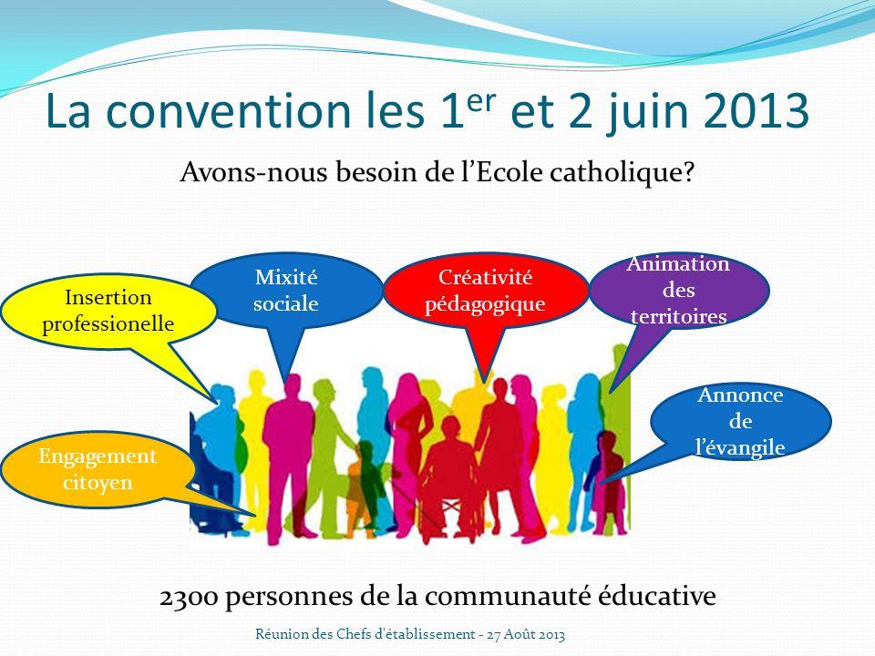 La convention les 1er et 2 juin 2013