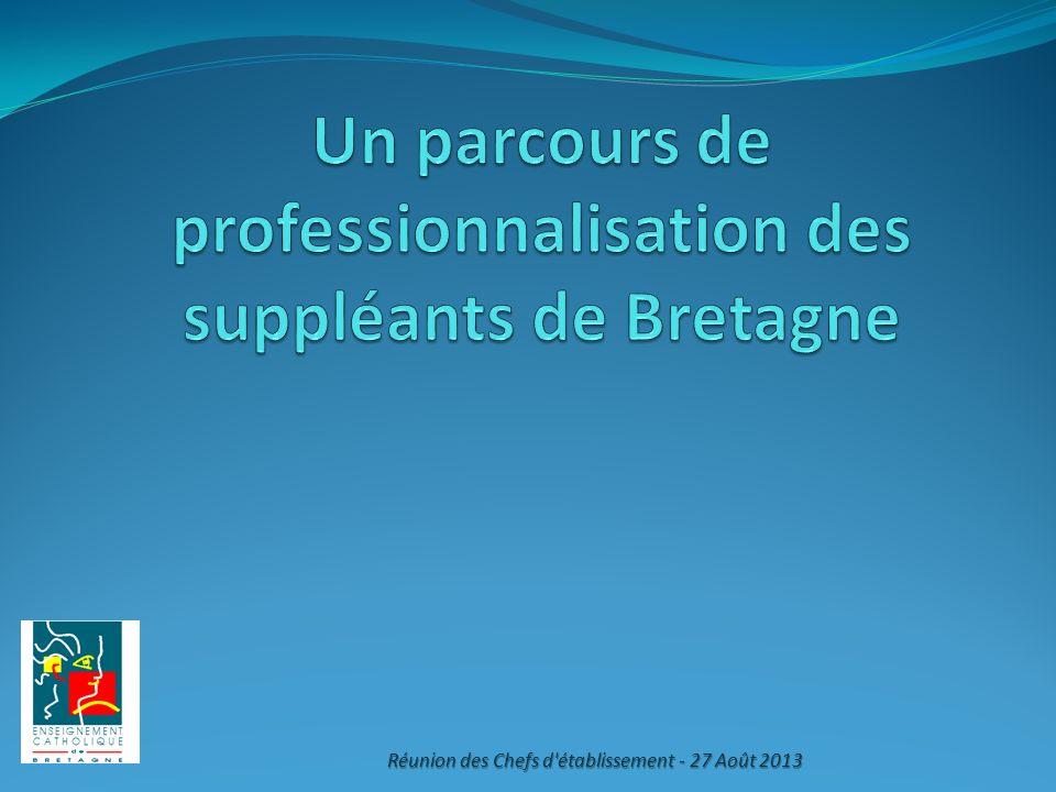 Un parcours de professionnalisation des suppléants de Bretagne