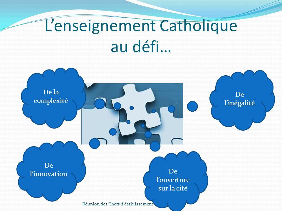 L'enseignement Catholique au défi…